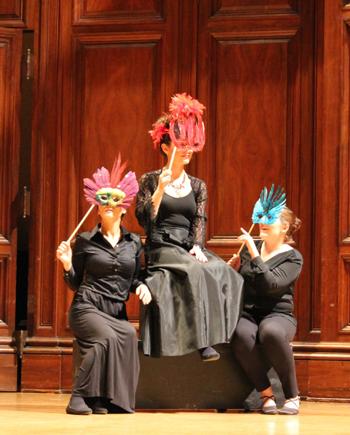 Dominique Daye Lim, Lila Powell and Emalie Huber [Photo courtesy of Le Château de la Voix]