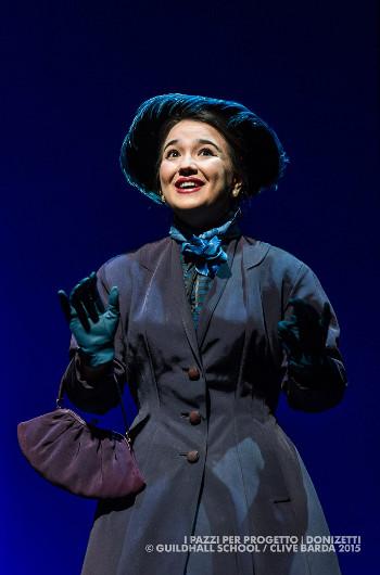 Laura Ruhl-Vidal as Norina in <em>Il pazzi per progetto</em> [Photo by Clive Barda]