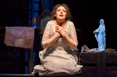 Tatiana Serjan as Tosca [Photo by Todd Rosenberg]