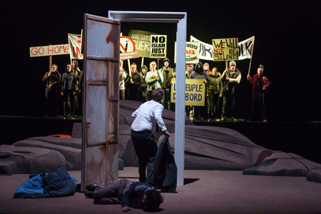 A scene from Fortress Europe [Photo by Hans van den Bogaard]