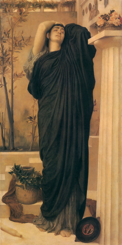 Electra at the Tomb of Agamemnon by Frederic Leighton (1869) [Source: Wikipedia]