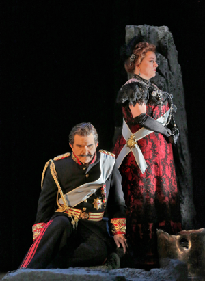24 Robert Brubaker (Herod) and Michaela Martens (Herodias) in 'Salome.' Photo © Ken Howard for Santa Fe Opera, 2015.png