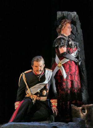 24 Robert Brubaker (Herod) and Michaela Martens (Herodias) in 'Salome.' Photo © Ken Howard for Santa Fe Opera, 2015.png