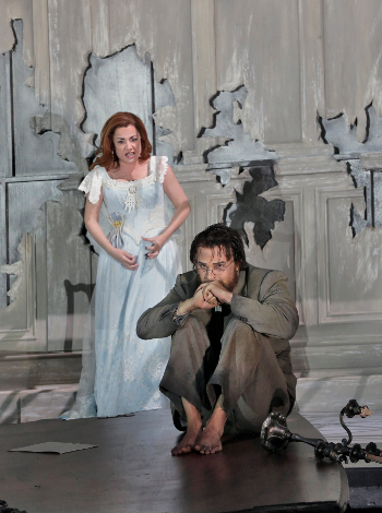 Alex Penda as Salome and Ryan McKinny as Jochanaan [Photo by Ken Howard]