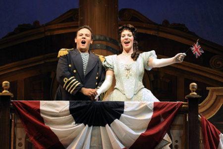 David Portillo as Ralph Rackstraw and Sara Gartland as Josephine