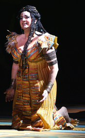 Claire Rutter as Aida [Photo by Tristram Kenton]
