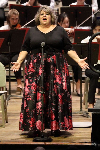 Amber Wagner as Sieglinde in the first act of Wagner's <em>Die Walküre</em> [Photo by Hilary Scott]