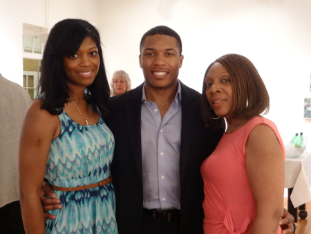 Brandon Coleman with mother and friend [Photo by author]