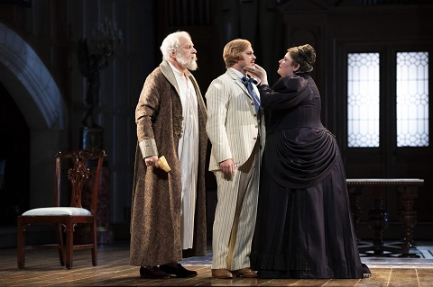 Arkel (Brindley Sherratt), Pelléas (John Chest) and Geneviève (Karen Cargill).jpg