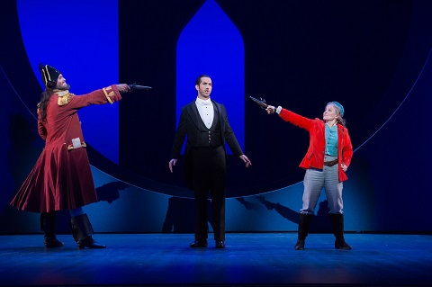 Ashley Riches as the Pirate King, David Webb as Frederic and Lucy Schaufer as Ruth.jpg