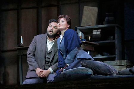 Mario Chang as Rodolfo and Olga Busuioc as Mimi [Photo by Ken Howard]