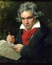 Ludwig van Beethoven (1820) by Joseph Karl Stieler