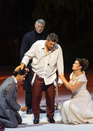 Adorno, Fiesco, Boccanegra, Amelia at Boccanegra's death [All photos copyright Salzburger Festspiele / Ruth Walz]