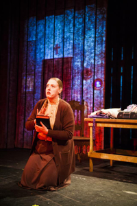 Heather Orth as Margaret White, Carrie's mother [Photo by Eric Scanlon]