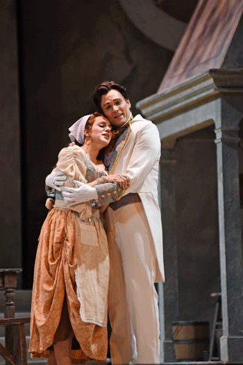 Daniela Mack and Alek Shrader as Angelina and Don Ramiro [Photo by Tim Trumble]