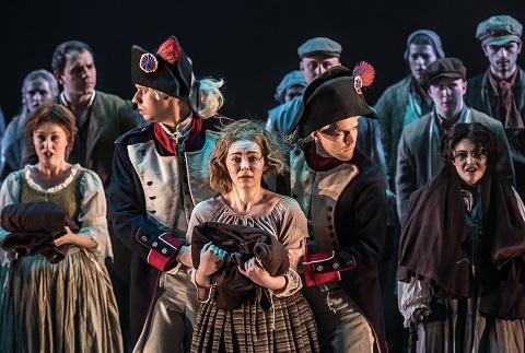 Claire Lees (Soeur Constance); Jake Muffett (1er Officer); Meriel Cunningham (Mere Gerald); Michael Vickers (Le Marquis); Eva Gheorghiu (Soeur Felicite).jpg