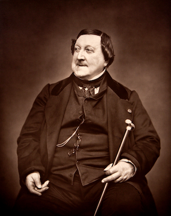 Gioachino Rossini [Photo by Étienne Carjat, 1865, courtesy of Wikipedia]