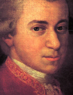 W. A. Mozart by Johann Nepomuk della Croce (1736-1819) [Source: Wikipedia]