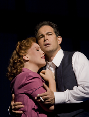 Sasha Cooke as Kitty Oppenheimer and Gerald Finley as J. Robert Oppenheimer in John Adams's