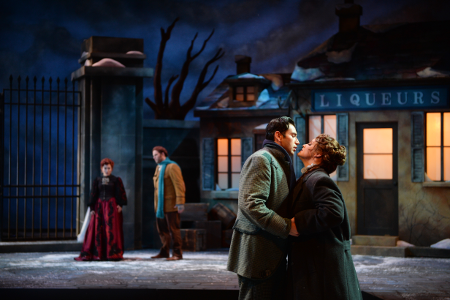 Scene from La bohème [Photo by Duane Tinkey courtesy of Des Moines Metro Opera]