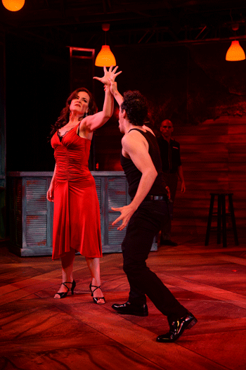 Maria (Elise Quagliata) with El Payador (Ricardo Rivera) [Photo by Duane Tinkey]