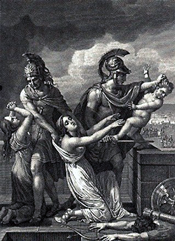 The death of Astyanax (18th Century engraving)