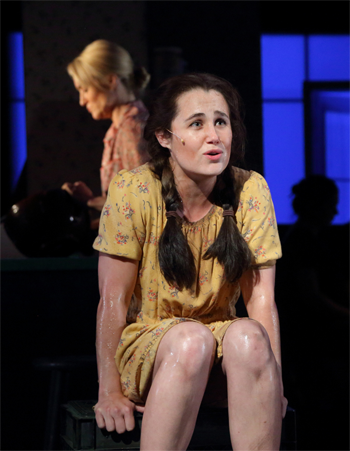 Marnie Breckenridge as the Mother and Lauren Worsham as Lisa [Photo by Greg Grudt]