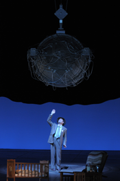 Gerald Finley stars as Robert Oppenheimer in the Peter Sellars-directed Doctor Atomic, part of Lyric Opera of Chicago's 2007-08 season. Photo by Dan Rest/Lyric Opera of Chicago.