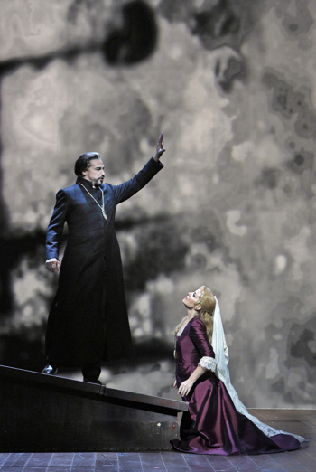 The Dutchman and Senta at San Francisco Opera [Photo by Cory Weaver]