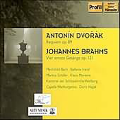 Antonin Dvorak: Requiem, Op. 89; Johannes Brahms: Vier erste Gesänge, Op. 121