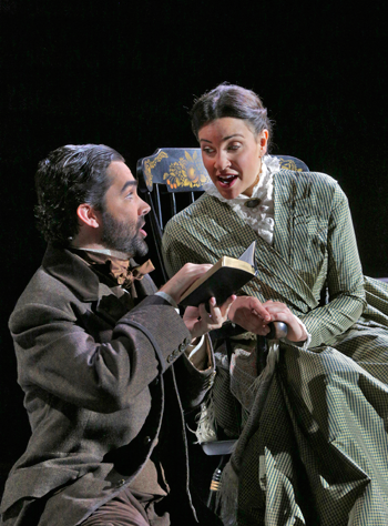 John Irvin as Matthew Gurney and Joyce El-Khoury as Emmeline Mosher [Photo © Ken Howard]