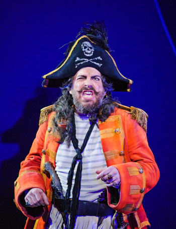 Joshua Bloom as the Pirate King [Photo by Tristram Kenton]