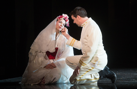 Rena Harms as Madama Butterfly and David Butt Philip as Pinkerton [Photo © Tom Bowles]