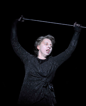 Cornelia Götz as The Queen of the Night [Photo by Robbie Jack courtesy of English National Opera]