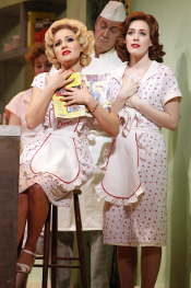 Stefania Dovhan as Adina and Meredith Lustig as Giannetta [Photo by Carol Rosegg courtesy of New York City Opera]