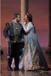 Salvatore Licitra (Ernani) and Sondra Radvanovsky (Elvira) [Photo by Dan Rest courtesy of Lyric Opera of Chicago]