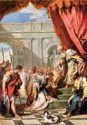 Esther Before Ahasuenus by Sebastiano Ricci (ca. 1730-1734 [National Gallery, London]