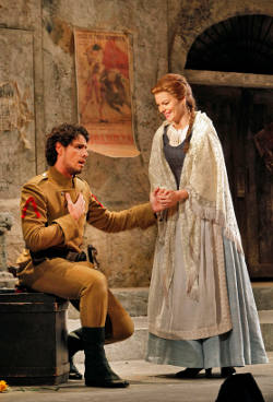 Thiago Arancam as Don Jose and Sara Gartland as Micaela