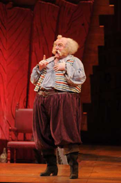 Andrew Shore in the title role of Falstaff, part of Lyric Opera of Chicago's 2007-08 season. Photo by Dan Rest/Lyric Opera of Chicago.