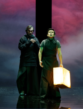 Giovanni Furlanetto as Balthazar, Yijie Shi as Fernand [Photo by Patrice Nin]