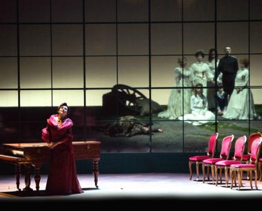 Daniela Dessi as Fedora, Act II [Photo courtesy of Teatro San Carlo]