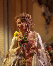 Renée Fleming as Marschallin [Photo by Ken Howard courtesy of The Metropolitan Opera]