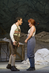 Diana Damrau (Marie) and Juan Diego Flórez (Tonio) [Photo by Cory Weaver courtesy of the San Francisco Opera]