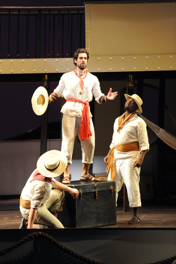 A scene from <em>Florencia in el Amazonas</em> [Photo by Tim Trumble]