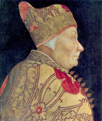 Francesco Foscari, by Lazzaro Bastiani [Source: Wikipedia]