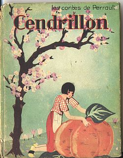Front cover of a 1930 French picture book edition of Cinderella.jpg