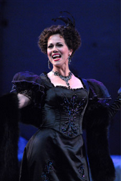 Elizabeth Futral as Hanna Glawari [Photo by Dan Rest courtesy of the Lyric Opera of Chicago]