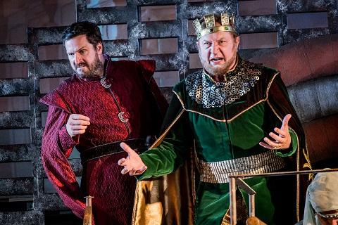 George von Bergen as Cornelius and Mikhail Svetlov as King Raimondo .jpg