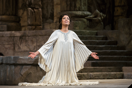 Nadine Sierra as Ilia in Mozart's Idomeneo. Photo: Marty Sohl/Metropolitan Opera