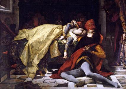 The death of Francesca da Rimini and Paolo Malatesta by Alexandre Cabanel (1870) [Source: Wikipedia]